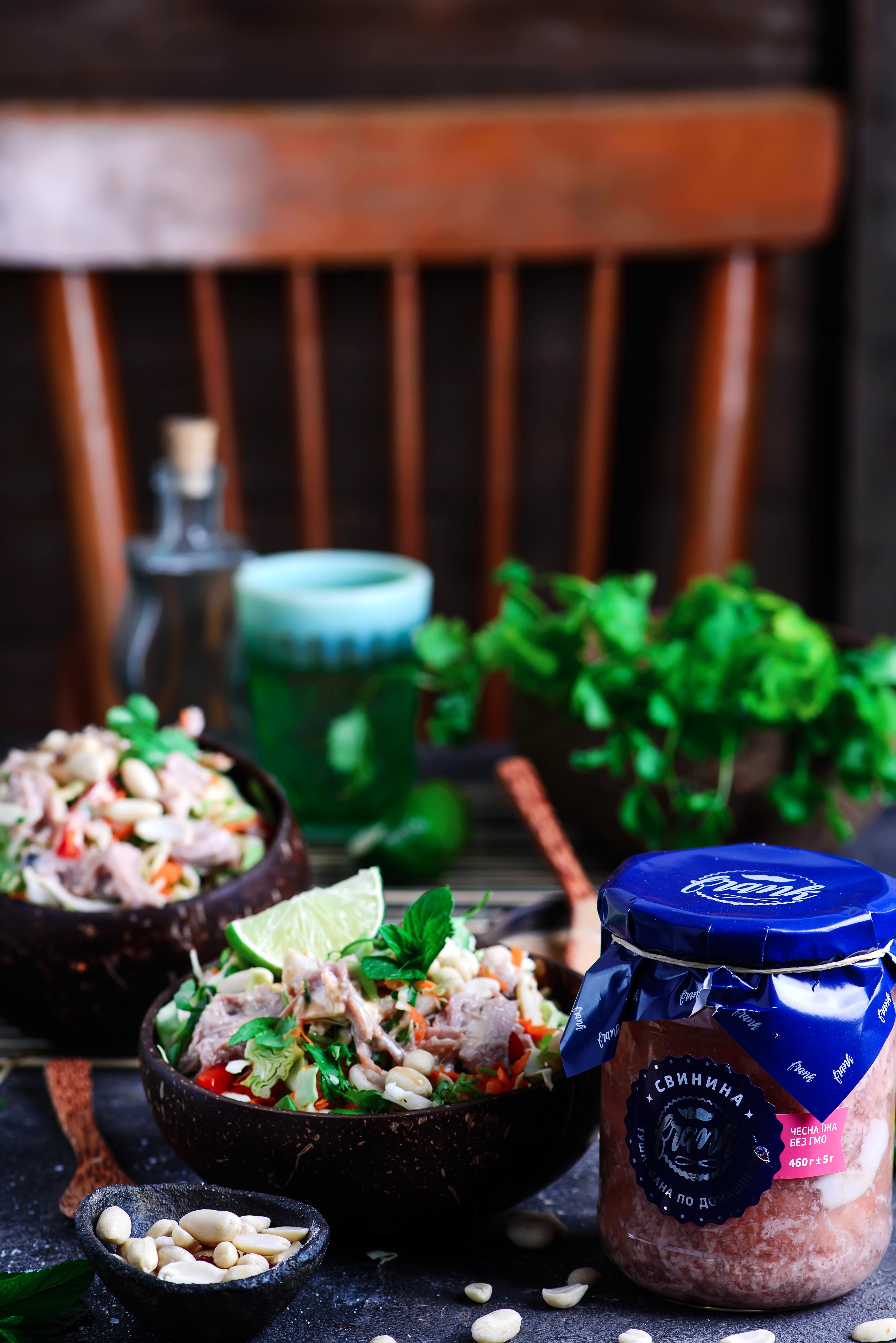 Вьетнамский салат с тушенкой